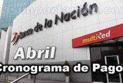 Cronograma de Pagos Abril - Bamco de la Nación
