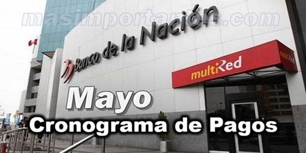 Cronograma de pasgos Mayo