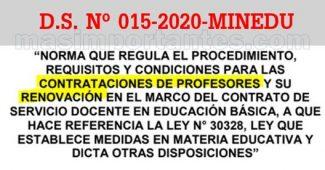 Norma para Contrato Docente 2021 Virtual