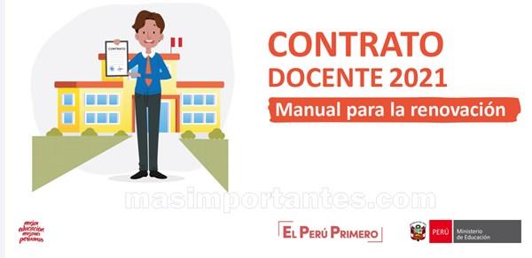 contrato docente manual para renovación