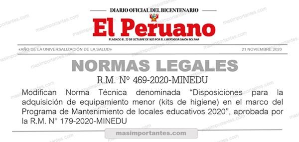 RM Nº 469-2020-minedu