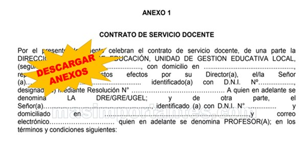 Descargar Anexos para la Renovación de Contrato Docente 2021