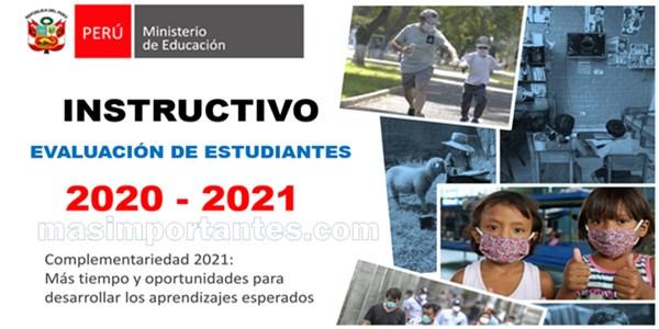 Instructivo para evaluacion de estudiantes 2020 2021