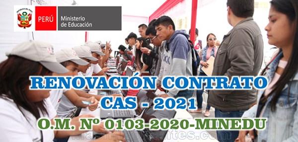 Renovación Contrato CAS 2021