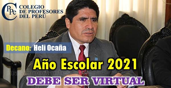 Año Escolar 2021 debe ser Virtual
