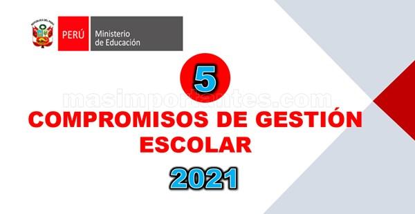 Compromisos de Gestión Escolar 2021