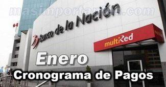 Cronograma de pagos enero Banco de la Nación