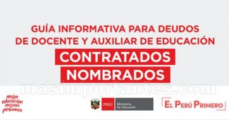 Guia informativa para deudos docentes auxiliares Nombrados y Contratados