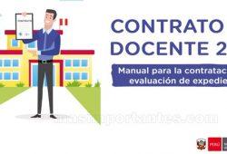 Manual para la contratación por evaluación de expedientes. Contrato docente 2021.