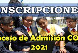 Cronograma Admisión COAR 2021 Inscripciones