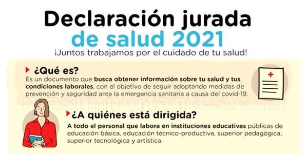 Declaración jurada de salud 2021