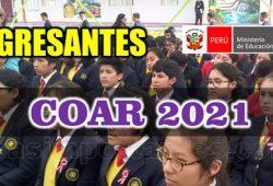 Relacion ingresantes COAR 2021