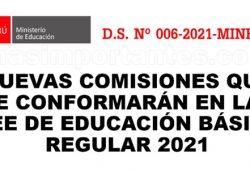 Nuevas comisiones de trabajo en las I.E.