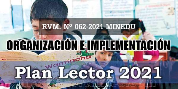 Implementación del Plan Lector 2021