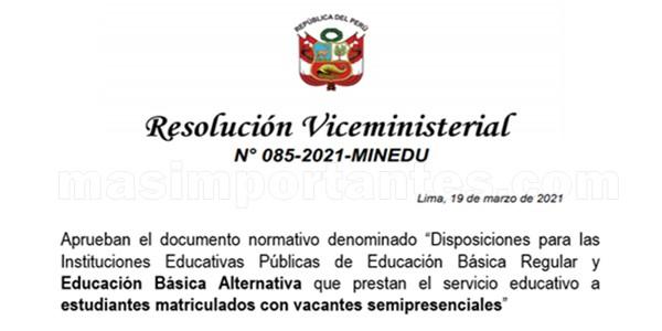 Servicio Educativo Semipresencial EBA