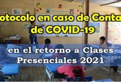 Protocolo en caso de contagio COVID 19 en clases presenciale