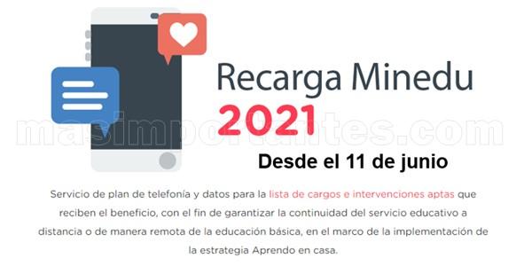 Recargas MINEDU 2021