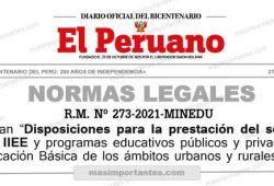 Modifican disposiciones para la prestacion de servicioes educativos