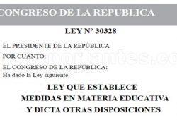 Reconocen derechos a docentes contratados ley 30328