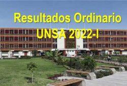 Resultados ordinario UNSA 2022-I